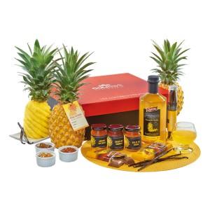 Toutes les saveurs de l'ananas victoria de La Réunion réunies dans un colis cadeau